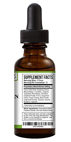 Green Organics Green Coffee Bean Liquid Extract Weight Loss Supplements | Suppresses Appetite | Boosts Metabolism | No Preservatives, No Additives | 100% Natural | 2 Fl Oz by Green Organics (Image #2)
