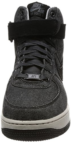 Nike Wmns Air Force 1 Hi SE Womens Fashion-Sneakers 860544-003_12 - Black/Dark Grey-Cobblestone