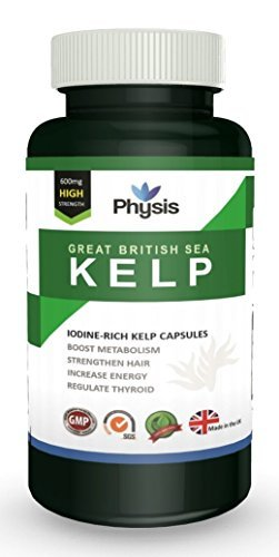 Physis Great British Sea Kelp | High Strength 600mg | Rich In Vitamins And Nutrients | Aids Weight-Loss | Reduces Fat Absorption | Nourishes And Moisturises Skin | Anti-Ageing | Regulates Thyroid Func by Physis Ltd.