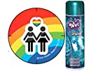 Bundle Package Of Girl Rainbow Button And Wet Original Gel (3.5oz)