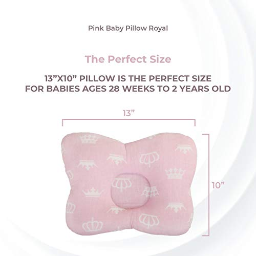 Amirovvv Kids Baby Pink Neck Pillow, 9x12 Infant Head Pillowand Orthopedic Neck Pillow for Baby