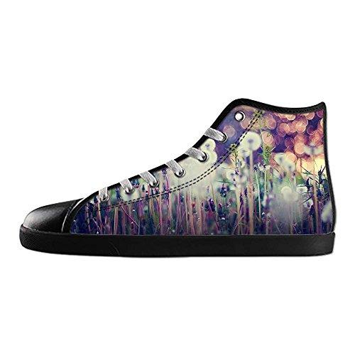 Custom Dente di Leone Mens Canvas shoes I lacci delle scarpe in Alto sopra le scarpe da ginnastica di scarpe scarpe di Tela.
