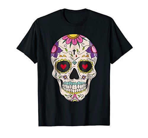 Flower Sugar Skull Costume Tee Sugar Skull Costumes Plus Siz