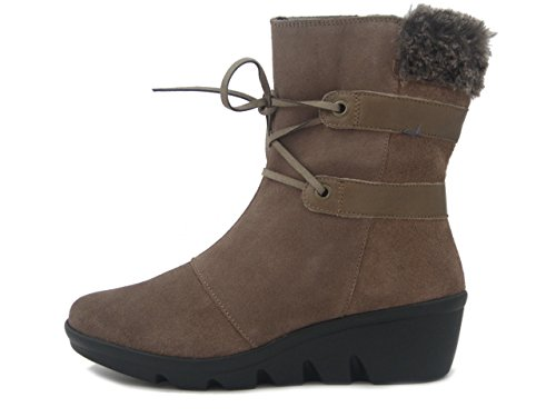 Camoscio 37420 Pericoli Zeppa Tortora i17 Marrone Osvaldo Walk In 4cm City Stivaletto The OwYPwdq