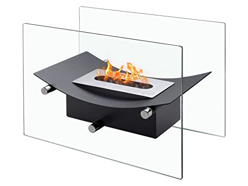 Ignis Verona – Ventless Tabletop Bio Ethanol Fireplace, Portable Fireplace Black