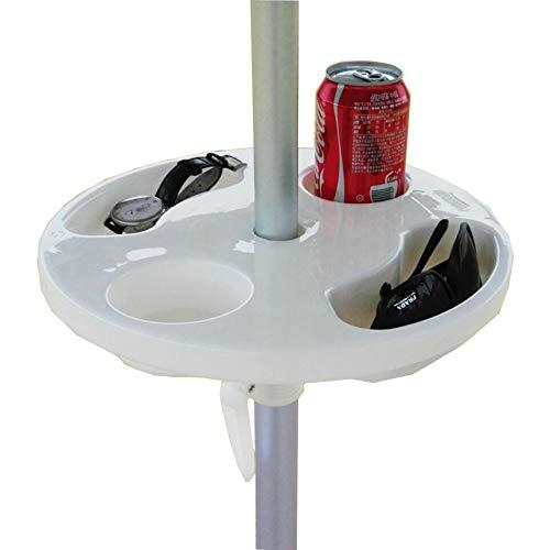 AMMSUN New 12 inch Round Plastic Beach Umbrella Table Cup Holders, ()