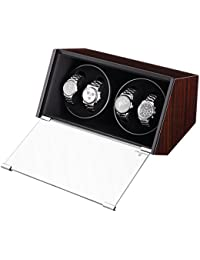 CRITIRON Automatic Single Watch Winder Case Rotating Watches Display Storage Box Black (4+0)