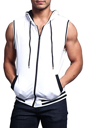 Lightweight Sleeveless Contrast Hoodie TH890