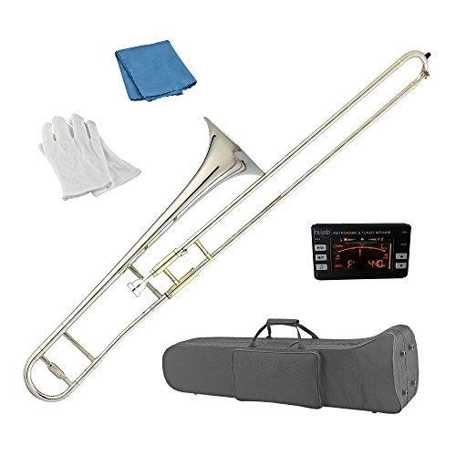 Estella TB200N Nickel Plated B Flat Tenor Slide Trombone by Estella