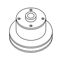R70435 New Water Pump Pulley For John Deere Tracto