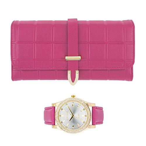 Women's Matching Watch & Wallet Gift Set - Pink by Gino Milano (Image #5)