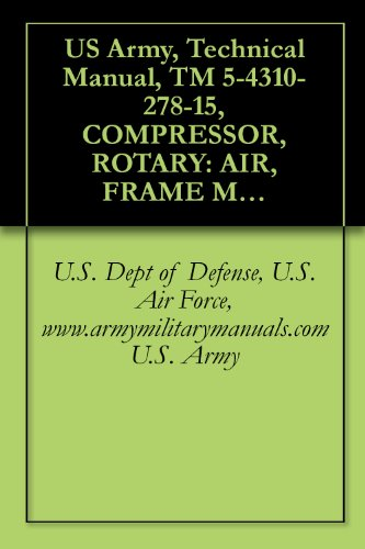 US Army, Technical Manual, TM 5-4310-278-15, COMPRESSOR, ROTARY: AIR, FRAME MOUNTED; 2-W PNEUMATIC TIRED, GASOLINE ENGINE, 60 CFM, 6.5 PSI, (HARRIS MODEL, ... military manauals, special forces