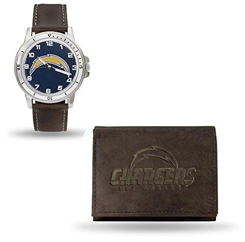 NFL Men's Watch and Wallet Set (Brown)