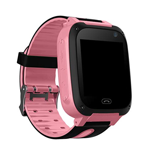 Lightclub T8 Children Kids Waterproof Location Tracker Camera Smart Phone Wrist Watch - Pink