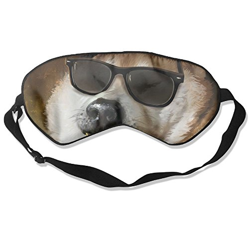 Sleep Mask Sunglasses Dog Eye Cover Blackout Eye Masks,Soothing Puffy Eyes,Dark Circles,Stress,Breathable Blindfold