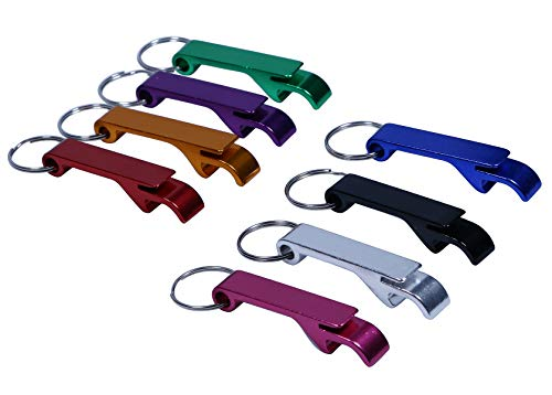 Soda Can Opener - Shapenty 8 Colored Pocket Aluminum Metal Split Key Ring Chain Keychain Claw Bar Soda Beverage Beer Bottle Opener Wedding Party Favor Gift Set, 8 Pieces/Box