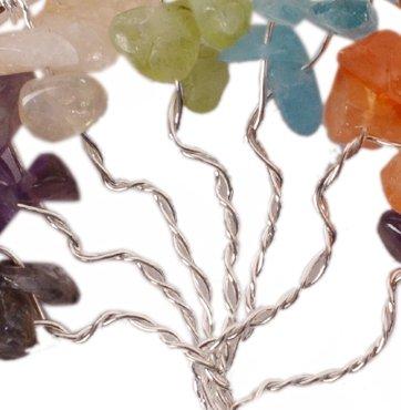 Purpledip Arbre de vie Sept Chakra Pierre pr/écieuse Pendentif Cadeau unique Gor Filles avec pierres de gu/érison 11049