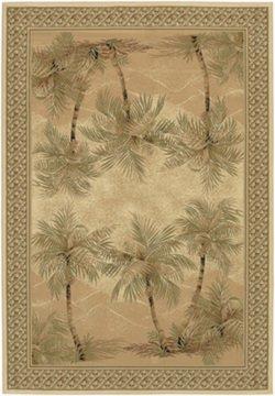 Couristan 2803/6387 Everest Palm Tree/Desert Sand 5-Feet 3-Inch by 7-Feet 6-Inch Rug (Desert Sand Rug)