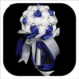 Artificial Flower Crystal Wedding Bouquet Fashion Rose Bruidsboeket Bride Bouquet Flower RamoNovia Bridal Wedding Bouquet 9