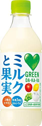 [スポンサー プロダクト]サントリー グリーンダカラ ミルクと果実 430ml ×24本