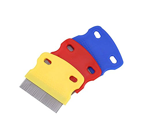 Panda Superstore 2Pcs Random Color, For Cats/Dogs Useful Pet Flea Combs/Grooming Comb by Panda Superstore (Image #2)