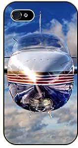 iPhone 5C Jet front - black plastic case / Plane, aircraft, airplane