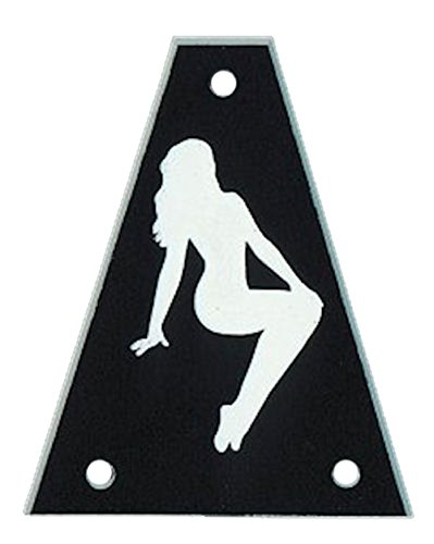 guitar parts TRUSS ROD COVER Custom Engraved Fits JACKSON, PIN-UP GIRL BLACK