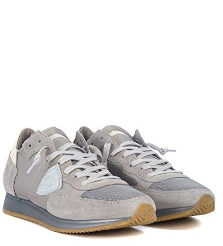 Tessuto in Grigio Tropez Model Philippe e camoscio Sneaker Grigio 6vPnZ