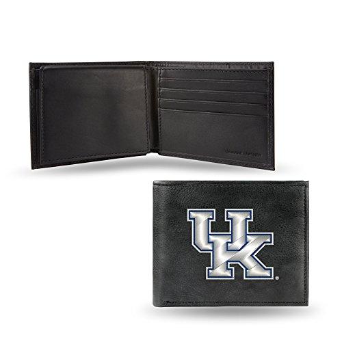 Kentucky Wildcats NEW LOGO Wallet Premium Black LEATHER BillFold Embroidered Bifold University ()
