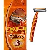 BIC 3 Pieles Sensibles Maquinillas de Afeitar Desechables (4+2 Uds.)