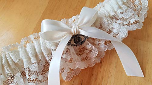 Heart Garter, Ivory Lace Garter, Something Blue Garter