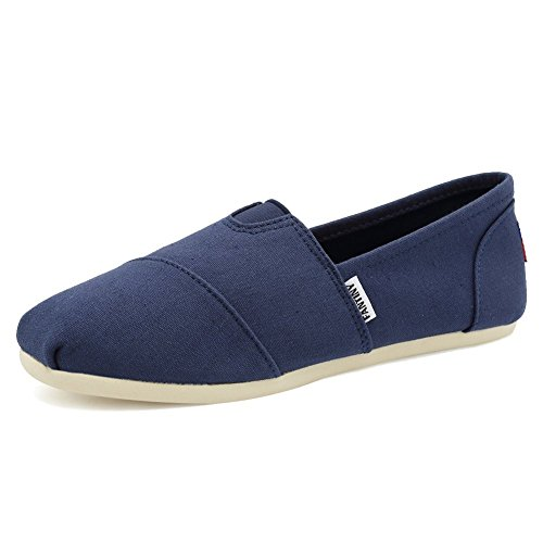 Fantiny Women's Classics Canvas Shoes Flats Loafers Slip on CasualShoes with Memory Foam Insole Shoes by CIOR