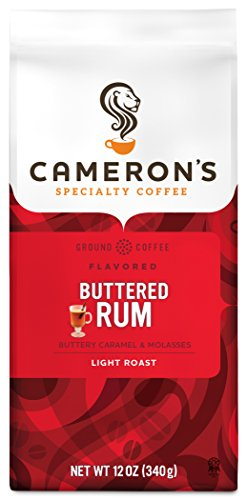 Cameron's Coffee Roasted Ground Coffee Bag, Flavored, Buttered Rum, 12 Ounce