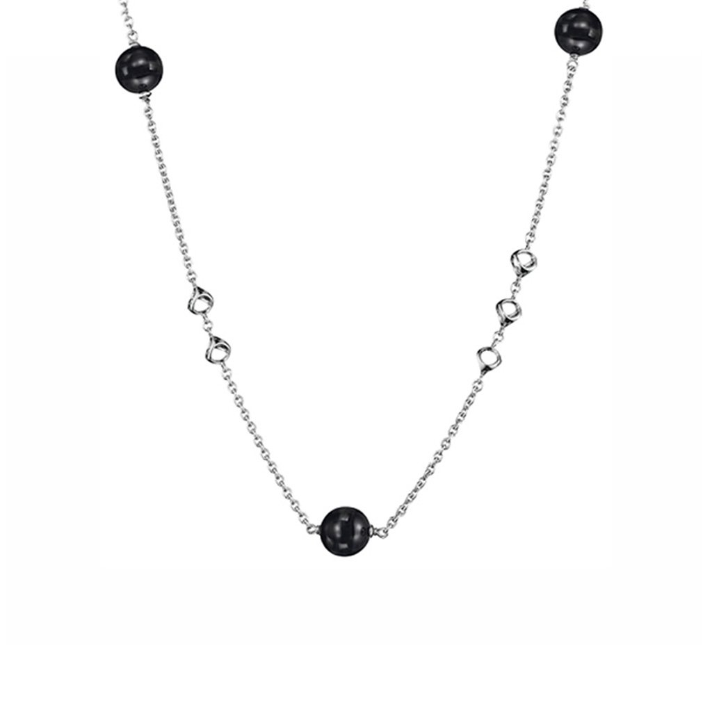 Di MODOLO Icona Sterling Silver 18'' Necklace with Black Onyx
