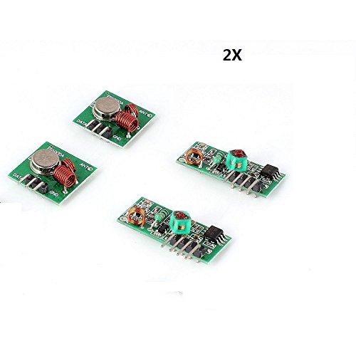 13 opinioni per 2X Wireless 433 MHz RF Ricevitore e Trasmettitore Modulo Per Raspberry e Arduino