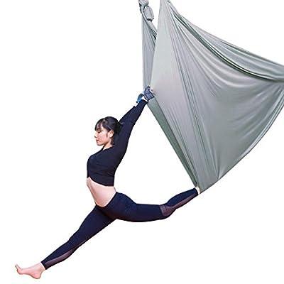 Alger Aerial Yoga Haute altitude hamac Accueil Yoga Micro élastique Stretch sangle Sling Yoga Stretch band Yoga, 5 m , grey