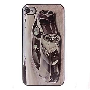MOFY-Estuche r'gido coche de dibujos animados de dise–o de aluminio para el iphone 5 / 5s