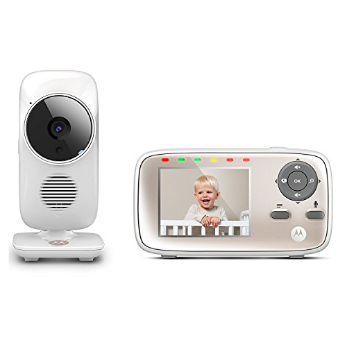 Motorola MBP667CONNECT Video Baby Monitor with Wi-Fi Viewing, 2.8 Inch Color Screen, Two-Way Audio and Room Temperature Display