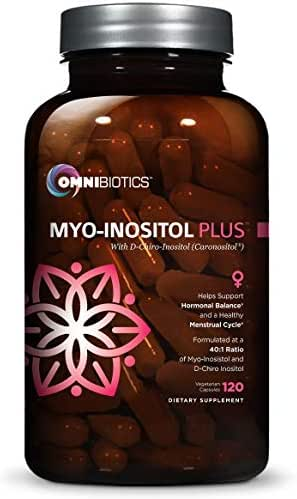 Myo-Inositol Plus with D-Chiro-Inositol | PCOS Supplement | Helps Promote Hormone Balance and Support Ovarian Function | Natural Fertility Supplements (120 Capsules)