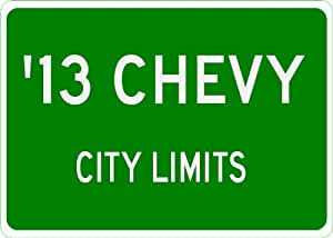 2013 13 CHEVY TAHOE City Limit Sign - 10 x 14 Inches