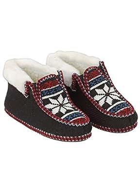 Norwegian Slippers, Black, Size Small