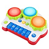Baby Musical Toys, Keyboard Piano Drum Learning Toys for 1 2 3 Years Old Toddler Best Christmas Birthday Gift