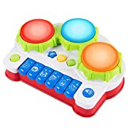 iFixer Baby Musical Toys Keyboard Piano Drums Electronic Learning Toys Fun Playing Best Christmas Birthday Gift for Toddler Baby Kids Educational Game