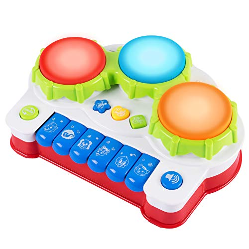 iFixer Baby Musical Toys Keyboard Piano Drums Electronic Learning Toys Fun Playing Best Christmas Birthday Gift for Toddler Baby Kids Educational Game by iFixer