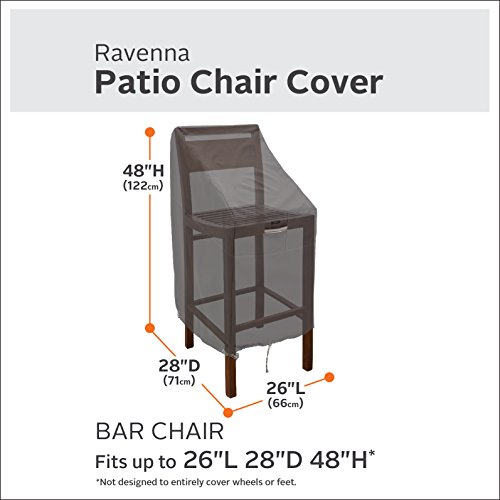 Classic Accessories 55-920-015103-4PK Ravenna Patio Bar Chair/Stool Cover, 4-Pack by Classic Accessories (Image #1)