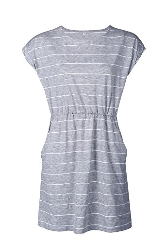 Zealmer Womens Sleeveless Stripe Elastic