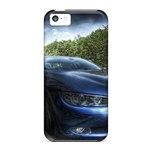 Tpu Case Cover Compatible For Iphone 5c/ Hot Case/ Bmw Parked On The Street Hdr