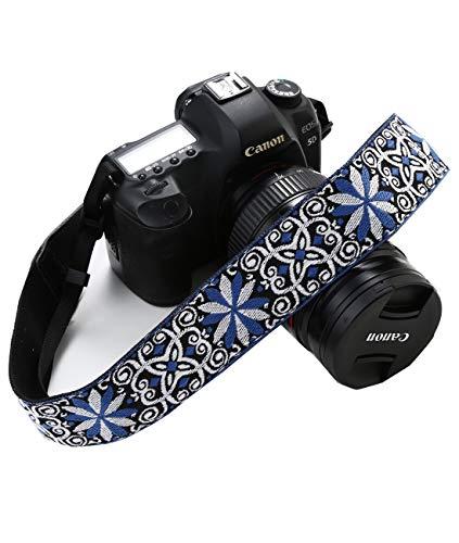 Correa de hombro bordada para todas las cámaras réflex digitales, diseño vibrante, correa universal DSLR, cinturón de...
