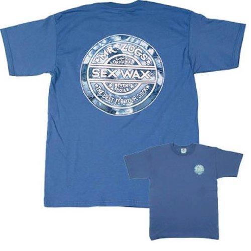 Sex Wax Mens Regular Short Sleeve Hawaiian Dreams Tee in Blue - Medium