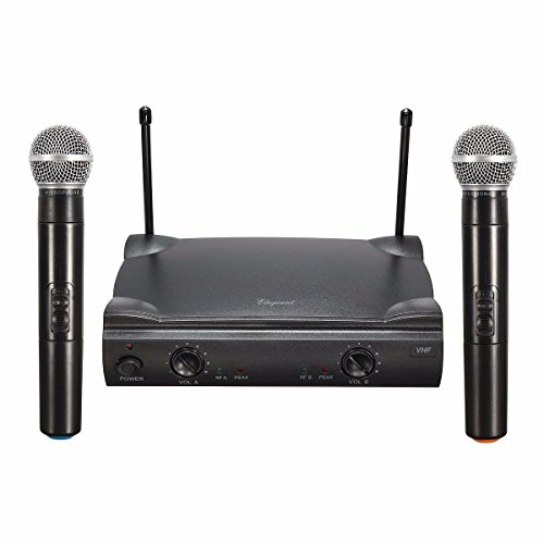 ELEGIANT Dual Wireless Microphone System - Professional Home KTV Set - Portable 2-Channel Microphone Karaoke Kit